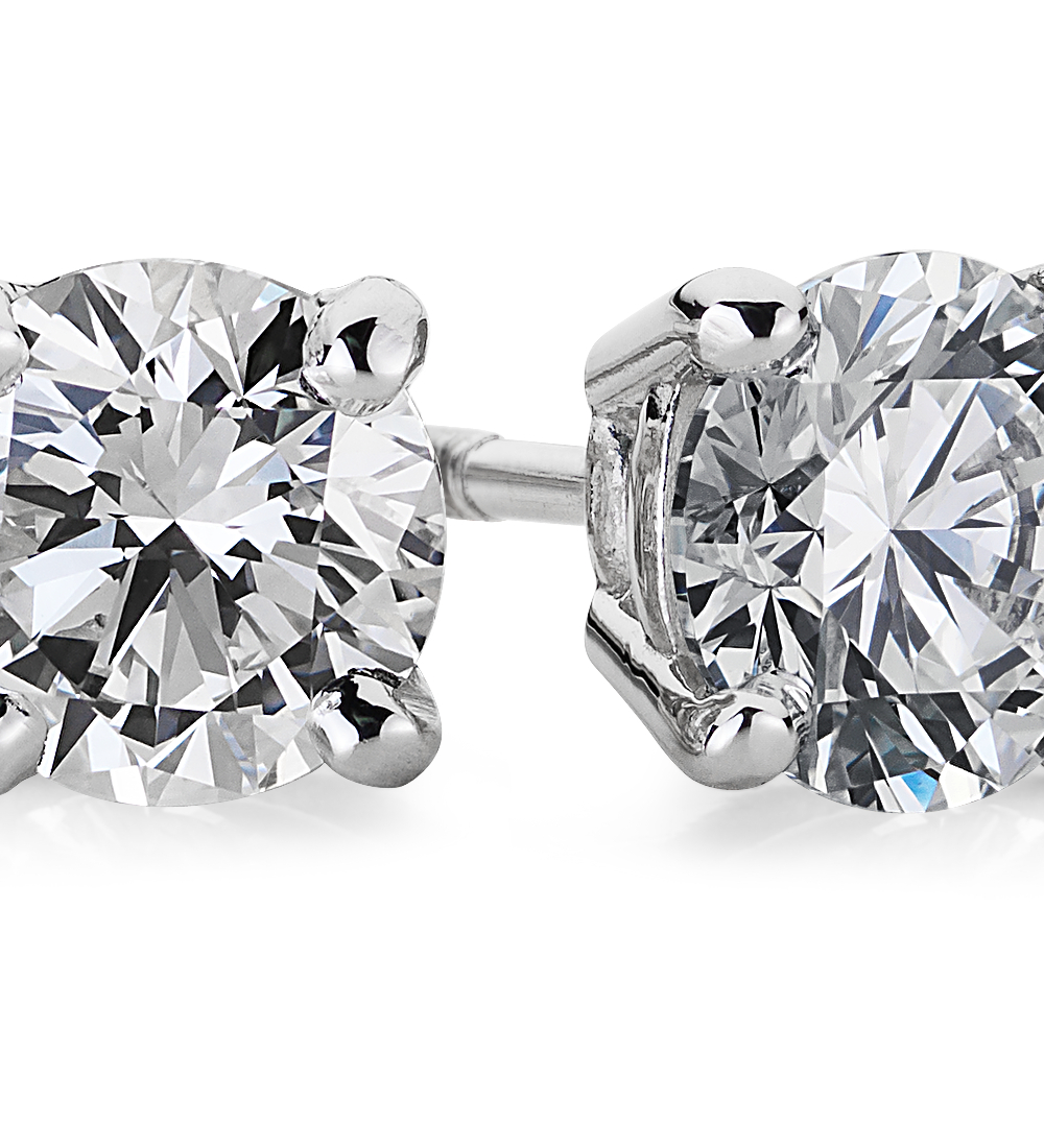 Premier Diamond Earrings in Platinum