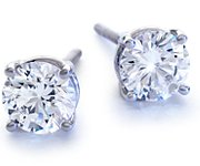 Diamond Earrings in Platinum