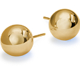 Ball Earrings in 18k Yellow Gold (6mm)