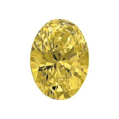Oval Diamond Prices 0.50-carat Yellow Oval Diamond