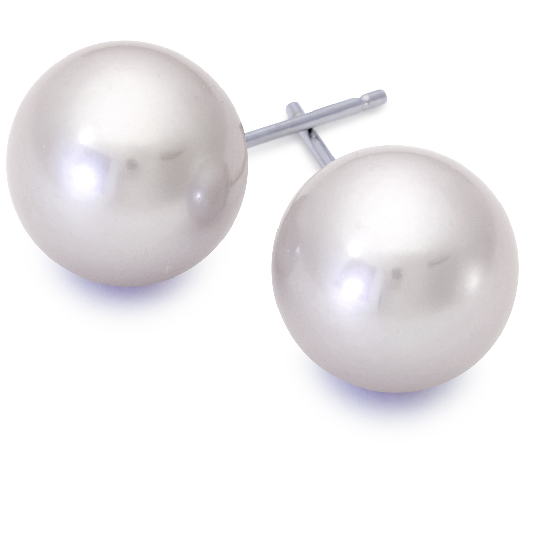 South Sea Pearl Earrings in 18k White Gold