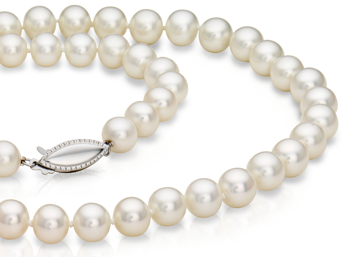 Freshwater Cultured Pearl Strand with 14k White Gold