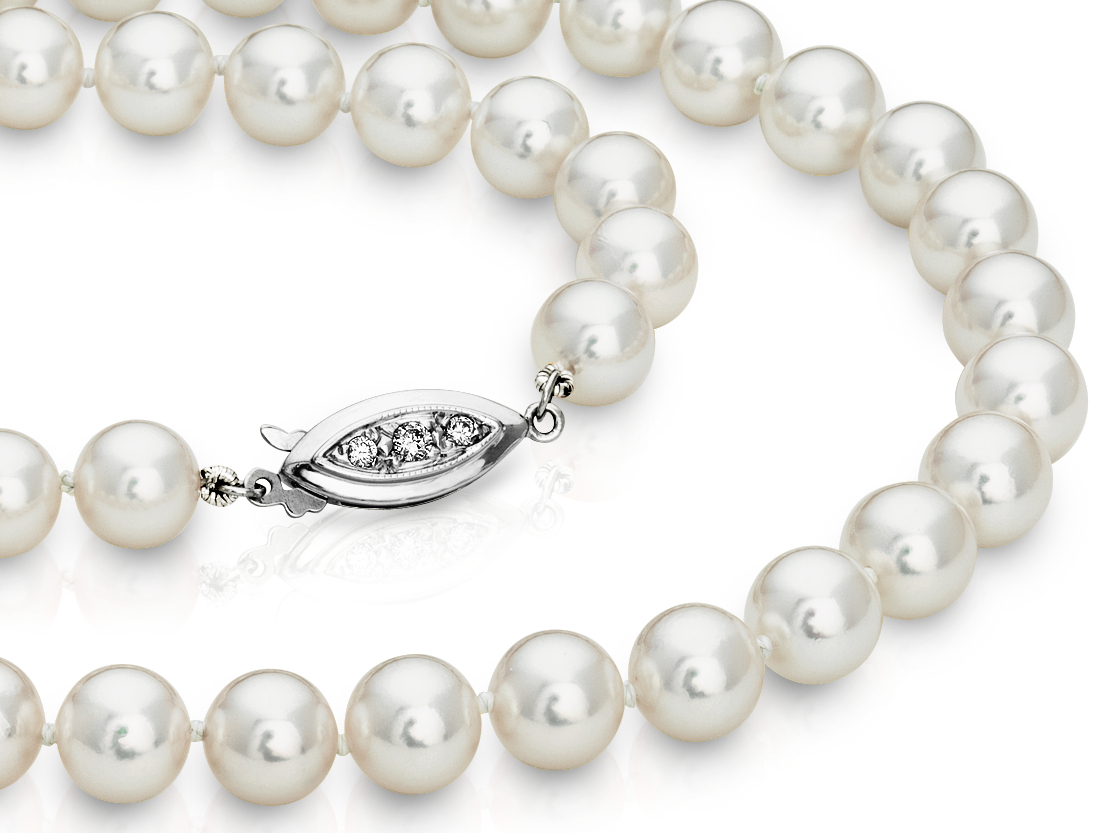 Premier Akoya Pearl Strands with 18k White Gold