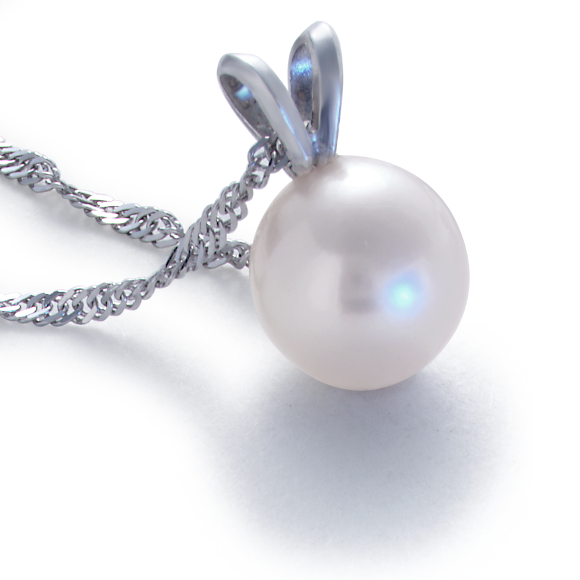 Freshwater Cultured Pearl Pendant in 14k White Gold