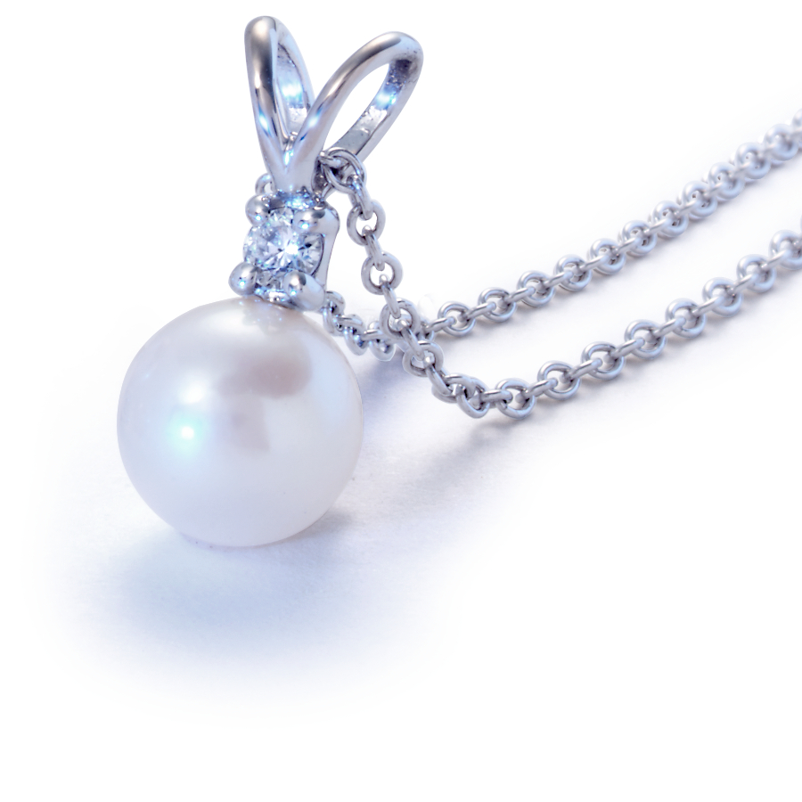 Premier Akoya Pearl Pendants in 18k White Gold