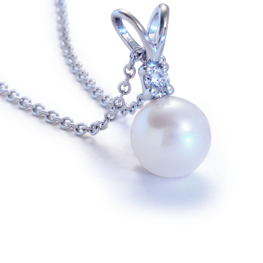 Classic Akoya Pearl Pendants in 18k White Gold