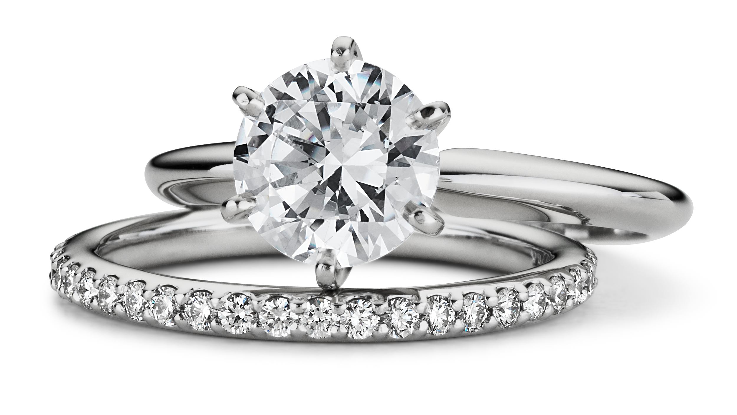 Classic Six Claw Engagement Ring in Platinum