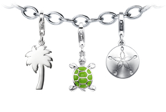 """A Day in the Sand"" Charm Bracelet Starter Idea"