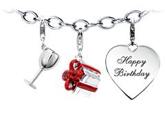 """Happy Birthday"" Charm Bracelet Starter Idea"