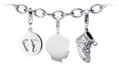 """It's A Boy!"" Charm Bracelet Starter Idea"