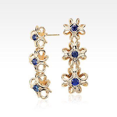 Colin Cowie Sapphire Drop Earring in 14k Yellow Gold
