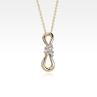 Colin Cowie Diamond Infinity Pendant 14k Yellow Gold