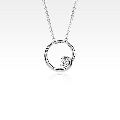 Colin Cowie Diamond Circle Pendant in 14k White Gold